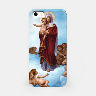 Thumbnail image of Our Lady of the Angels by William-Adolphe Bouguereau Colorized Old Masters Classical Art Reproduction iPhone Case, Live Heroes