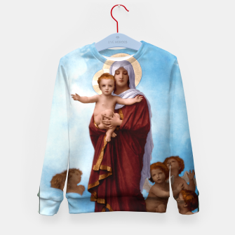 Imagen en miniatura de Our Lady of the Angels by William-Adolphe Bouguereau Colorized Old Masters Classical Art Reproduction Kid's sweater, Live Heroes