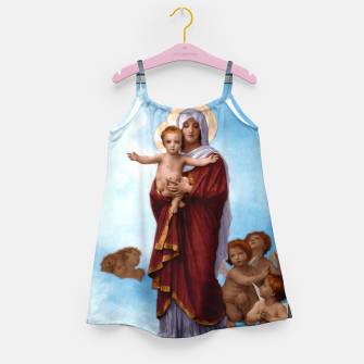Thumbnail image of Our Lady of the Angels by William-Adolphe Bouguereau Colorized Old Masters Classical Art Reproduction Girl's dress, Live Heroes