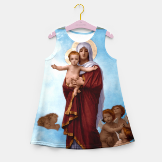 Thumbnail image of Our Lady of the Angels by William-Adolphe Bouguereau Colorized Old Masters Classical Art Reproduction Girl's summer dress, Live Heroes