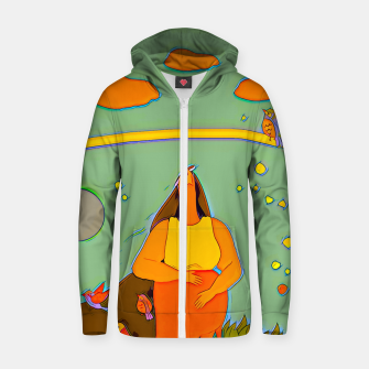Thumbnail image of Look up Zip up hoodie, Live Heroes
