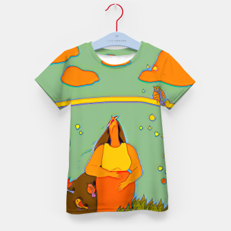 Thumbnail image of Look up Kid's t-shirt, Live Heroes