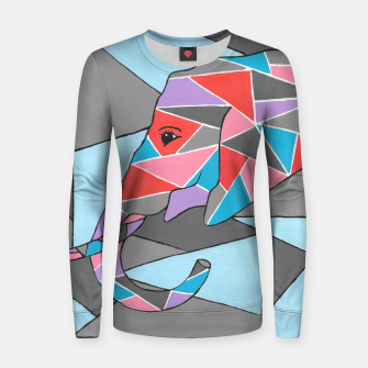 Thumbnail image of Geometric Elephant Women sweater, Live Heroes