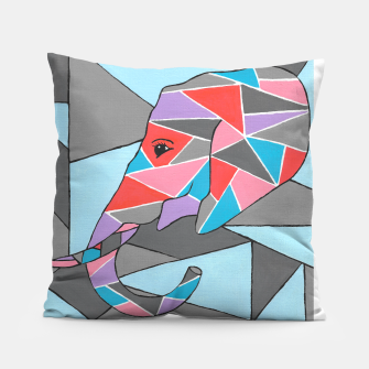 Thumbnail image of Geometric Elephant Pillow, Live Heroes