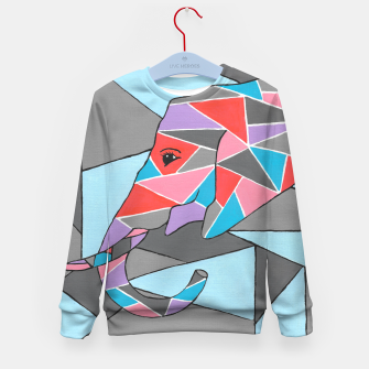 Thumbnail image of Geometric Elephant Kid's sweater, Live Heroes