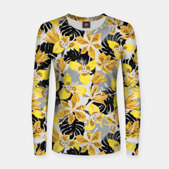 Yellow tropical bloom 89 Sudadera para mujeres thumbnail image