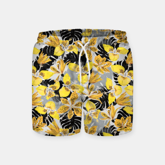 Yellow tropical bloom 89 Pantalones de baño thumbnail image