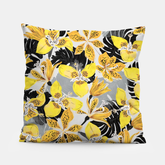 Miniatur Yellow tropical bloom 89 Almohada, Live Heroes