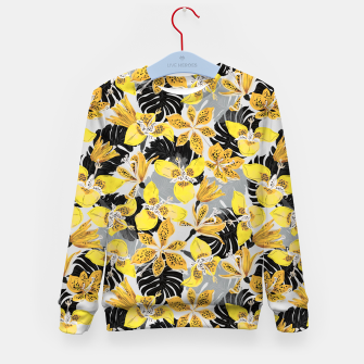 Miniatur Yellow tropical bloom 89 Sudadera para niños, Live Heroes