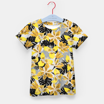 Yellow tropical bloom 89 Camiseta para niños thumbnail image