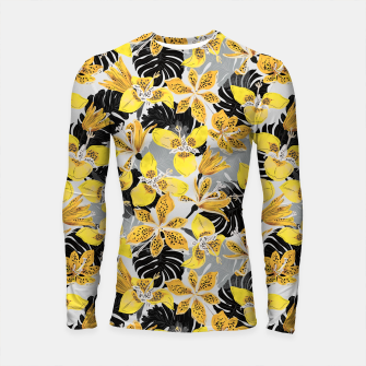 Miniatur Yellow tropical bloom 89 Longsleeve rashguard, Live Heroes