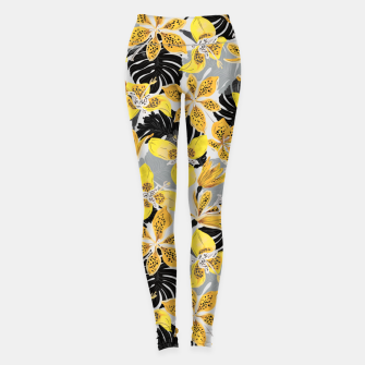 Miniatur Yellow tropical bloom 89 Leggings, Live Heroes