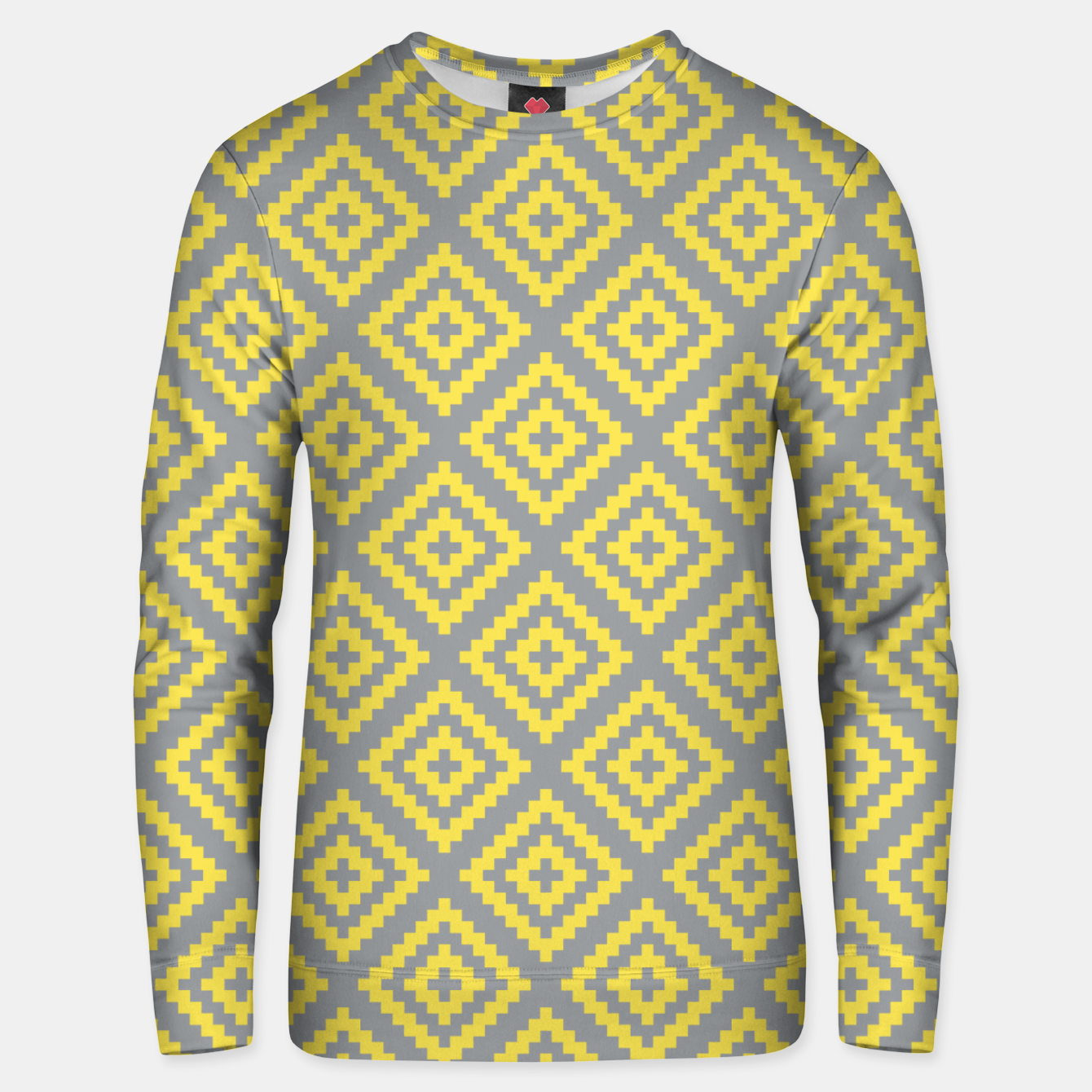 Foto Yellow and Gray Pattern I Unisex sweater - Live Heroes