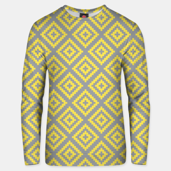 Yellow and Gray Pattern I Unisex sweater obraz miniatury