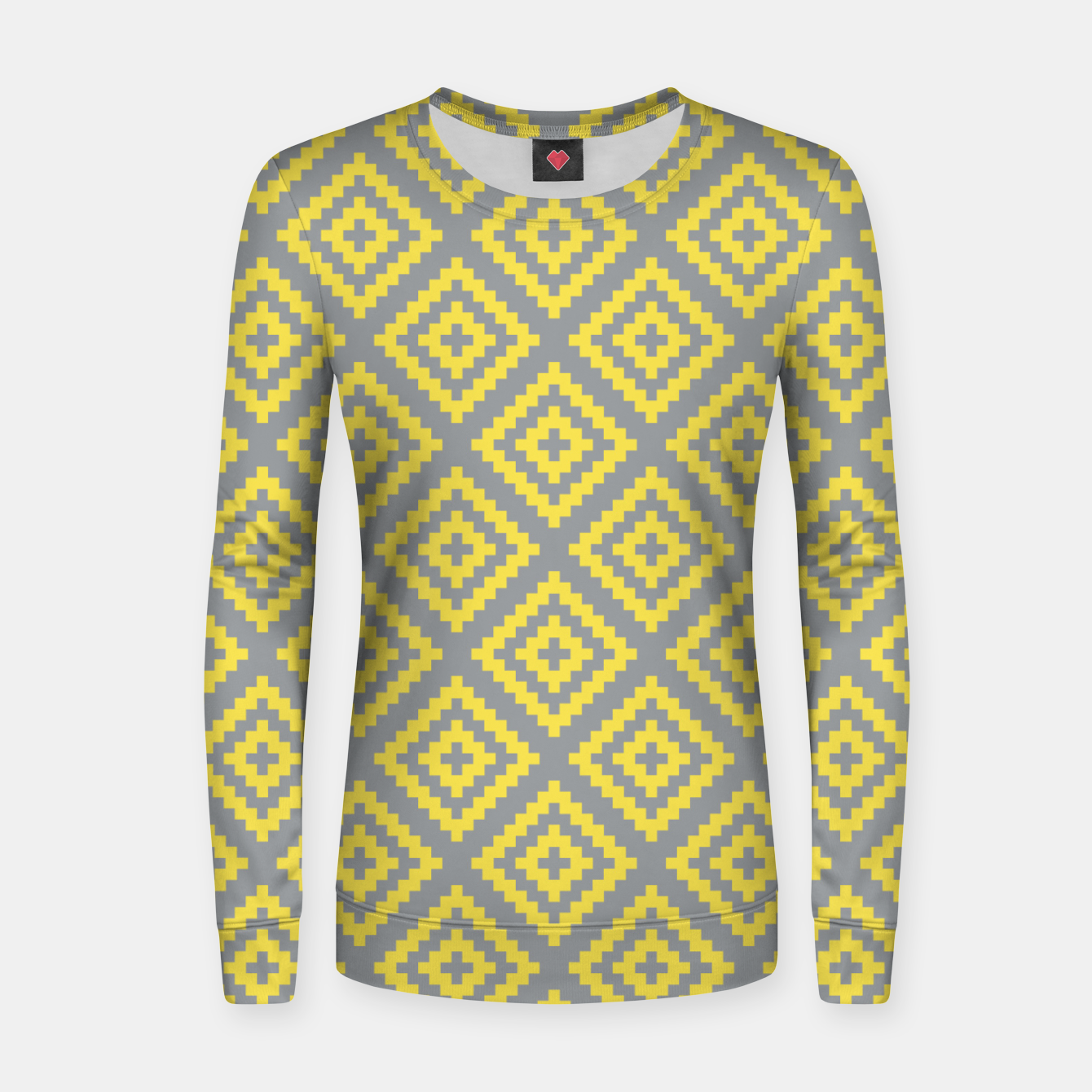 Foto Yellow and Gray Pattern I Women sweater - Live Heroes