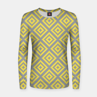 Miniatur Yellow and Gray Pattern I Women sweater, Live Heroes