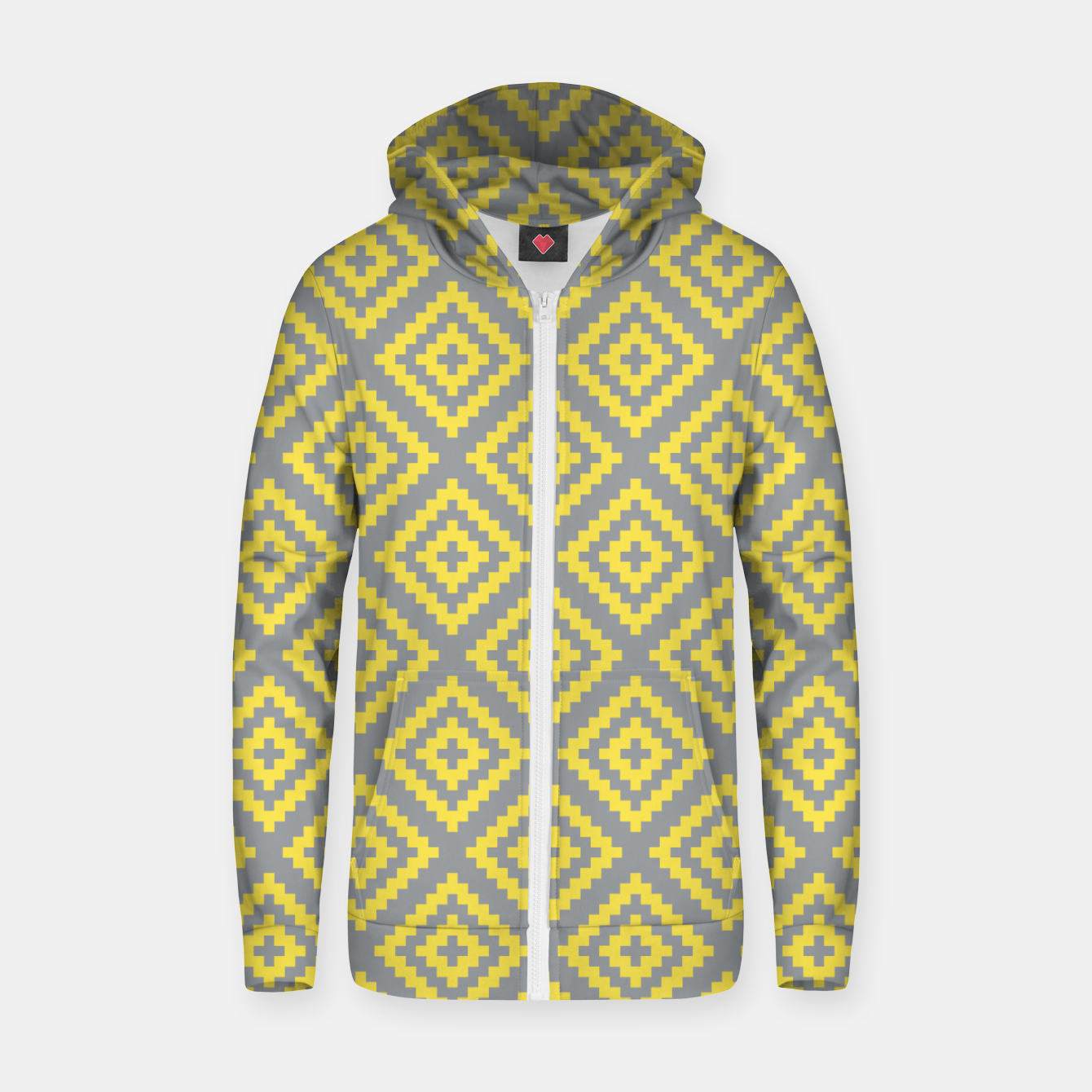 Zdjęcie Yellow and Gray Pattern I Zip up hoodie - Live Heroes