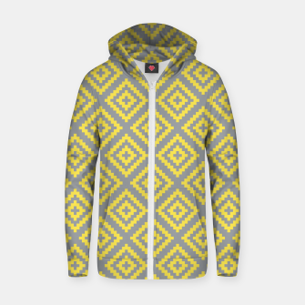 Miniatur Yellow and Gray Pattern I Zip up hoodie, Live Heroes