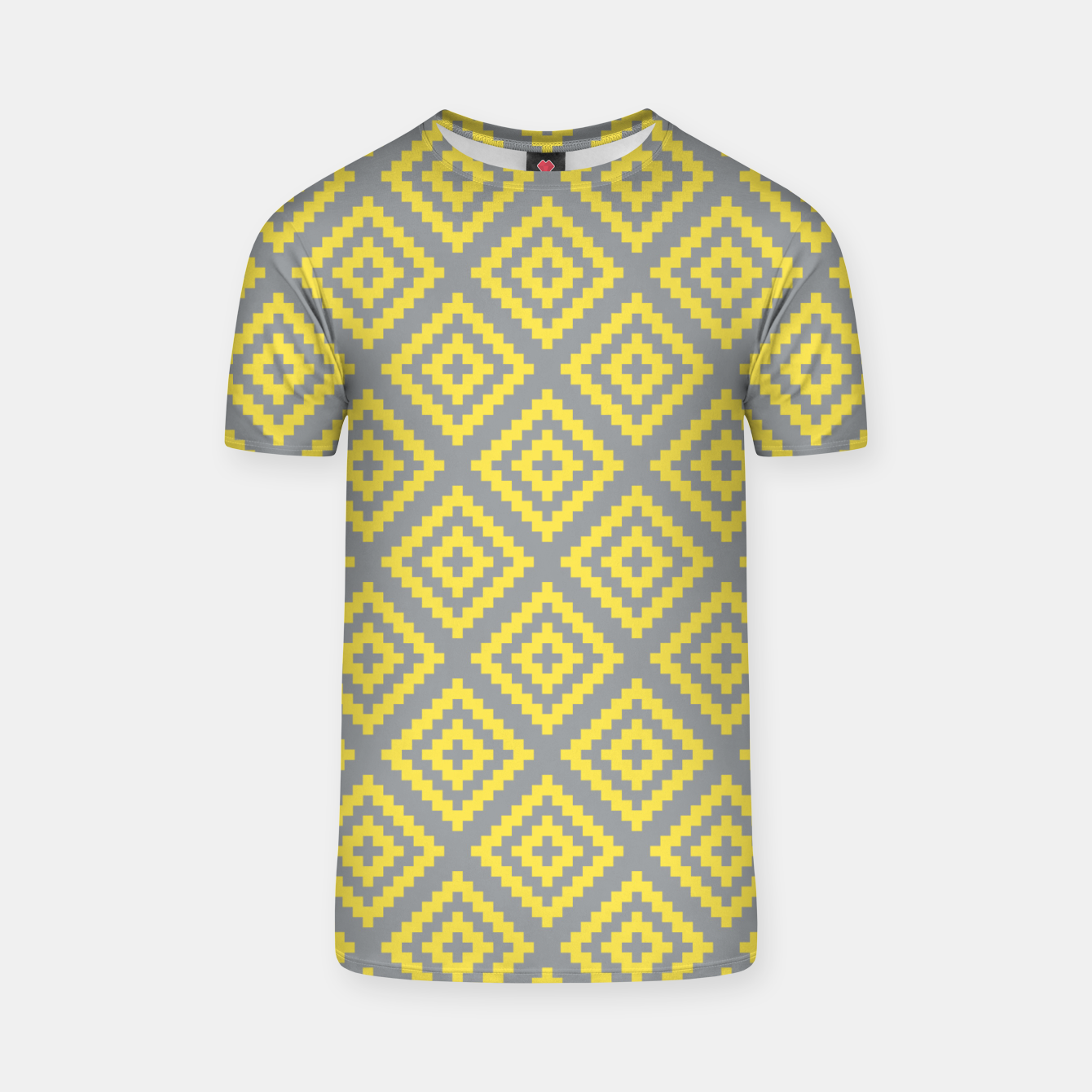 Zdjęcie Yellow and Gray Pattern I T-shirt - Live Heroes