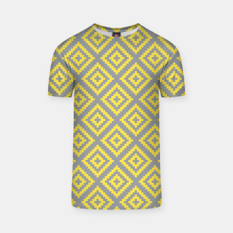 Yellow and Gray Pattern I T-shirt Bild der Miniatur