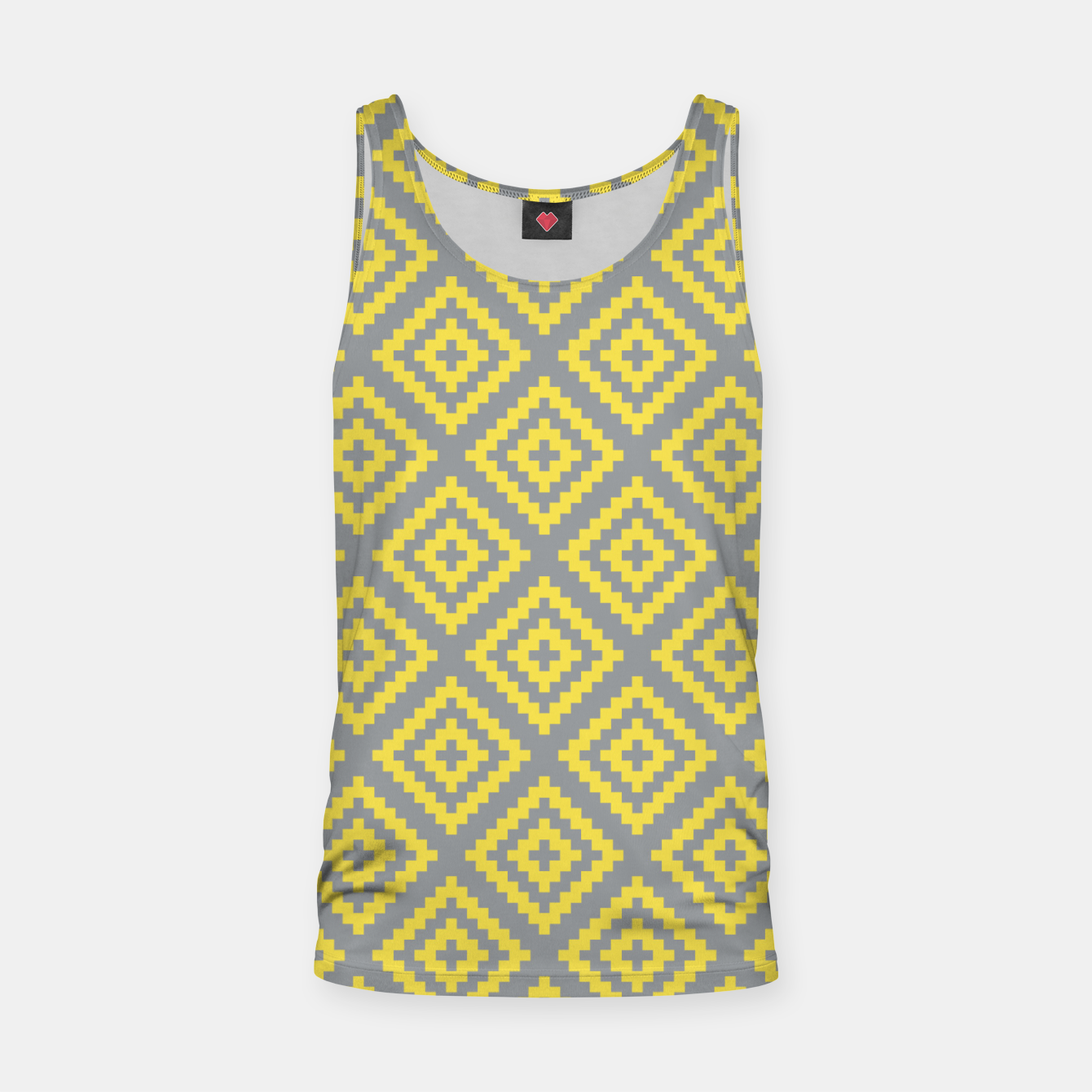 Foto Yellow and Gray Pattern I Tank Top - Live Heroes