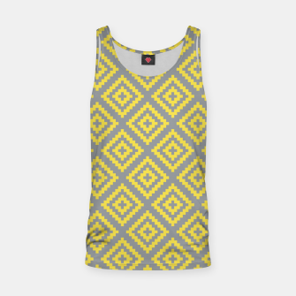 Miniatur Yellow and Gray Pattern I Tank Top, Live Heroes