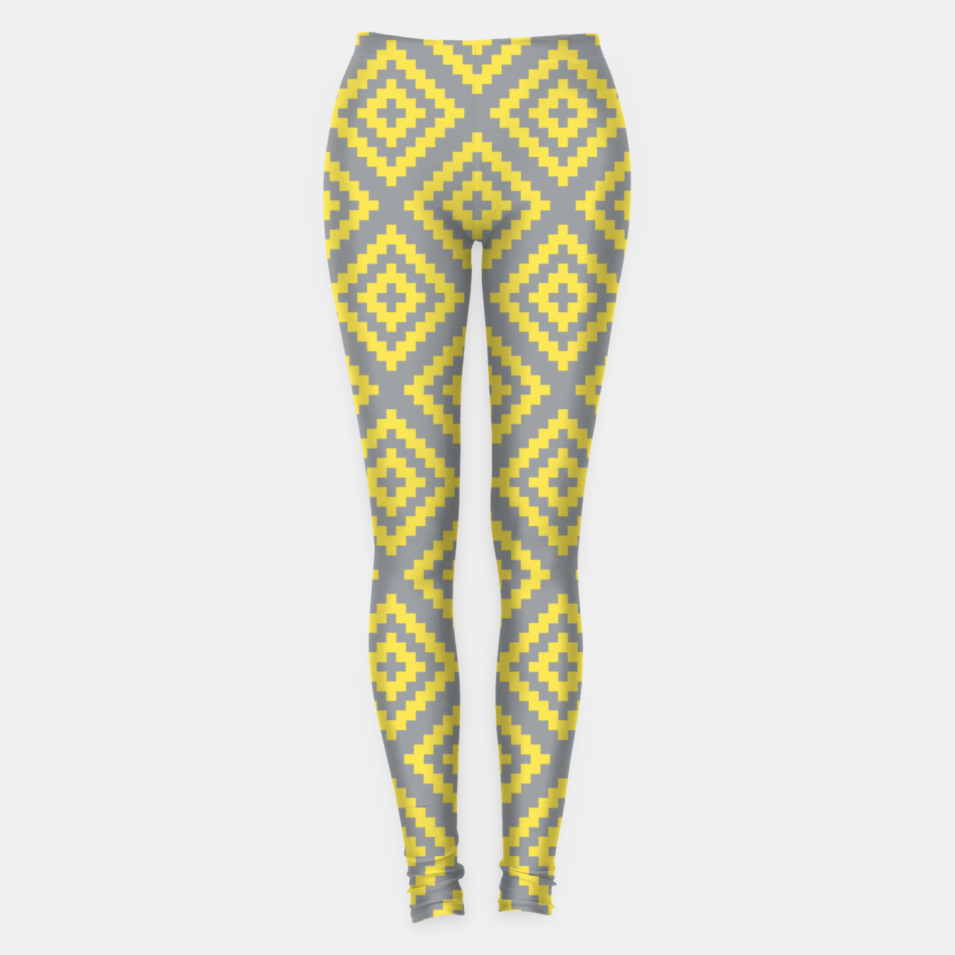Zdjęcie Yellow and Gray Pattern I Leggings - Live Heroes