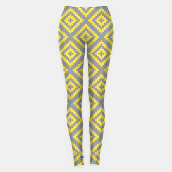 Miniatur Yellow and Gray Pattern I Leggings, Live Heroes