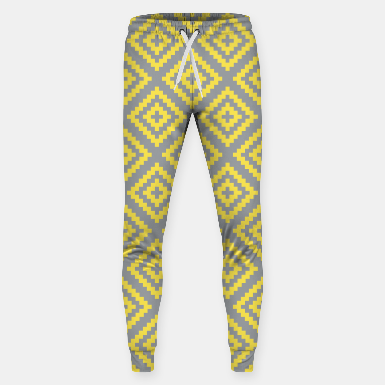 Zdjęcie Yellow and Gray Pattern I Sweatpants - Live Heroes