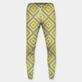 Miniatur Yellow and Gray Pattern I Sweatpants, Live Heroes