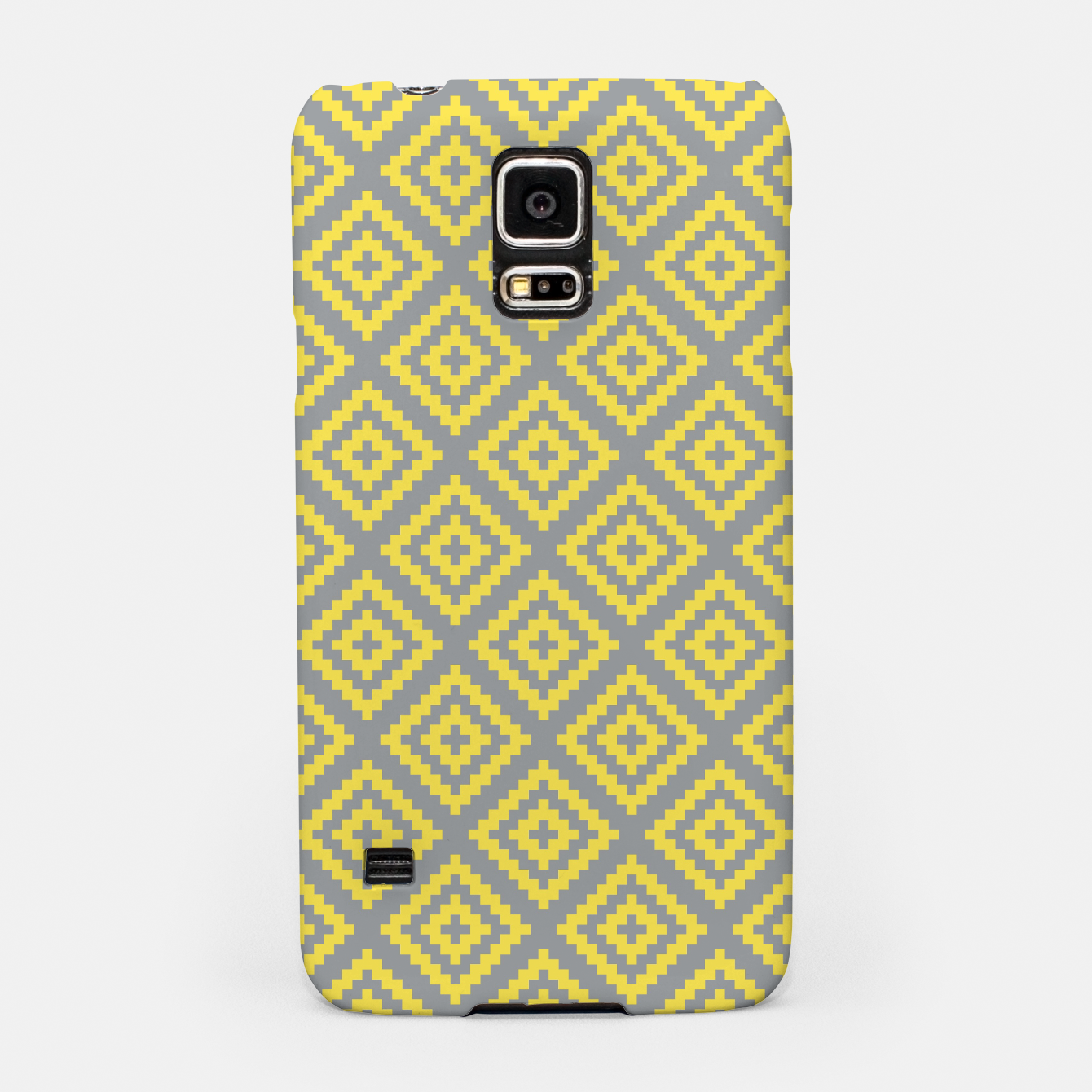 Image of Yellow and Gray Pattern I Samsung Case - Live Heroes