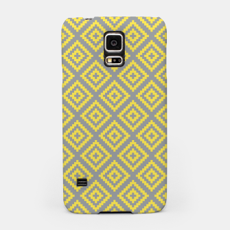 Miniatur Yellow and Gray Pattern I Samsung Case, Live Heroes