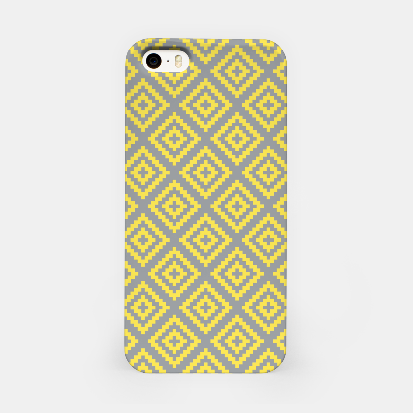 Foto Yellow and Gray Pattern I iPhone Case - Live Heroes