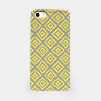 Miniatur Yellow and Gray Pattern I iPhone Case, Live Heroes