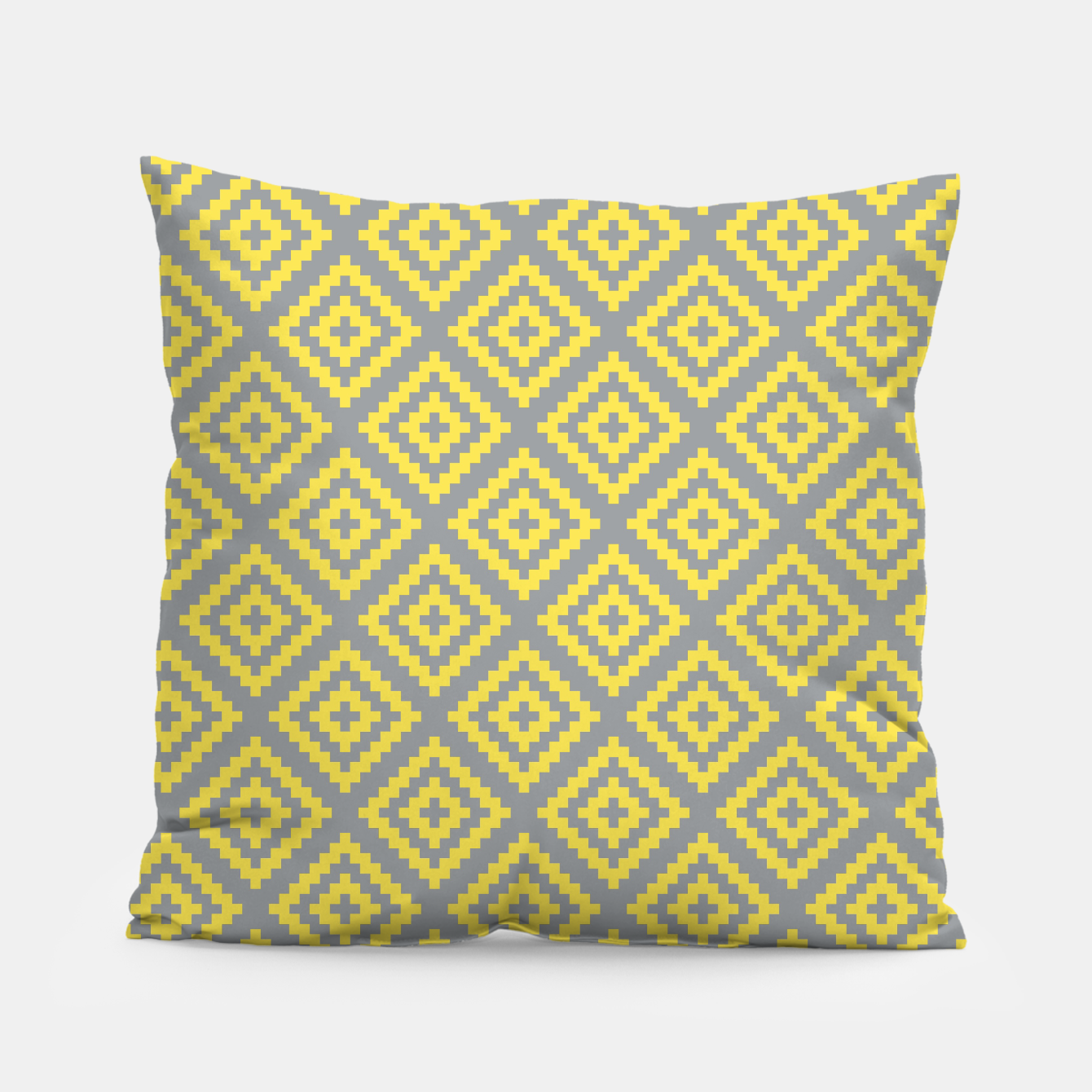 Zdjęcie Yellow and Gray Pattern I Pillow - Live Heroes