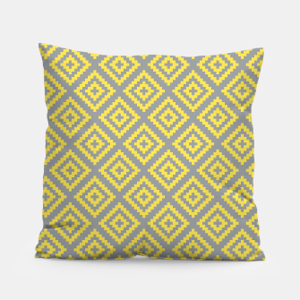 Miniatur Yellow and Gray Pattern I Pillow, Live Heroes