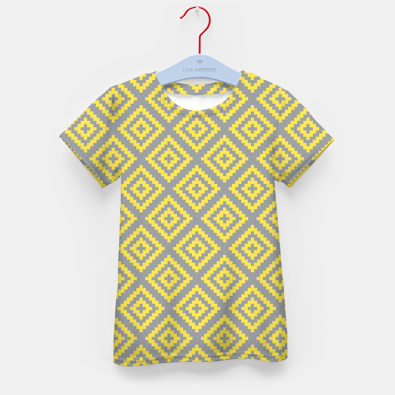 Zdjęcie Yellow and Gray Pattern I Kid's t-shirt - Live Heroes