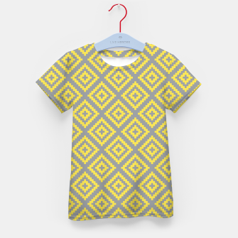 Miniatur Yellow and Gray Pattern I Kid's t-shirt, Live Heroes