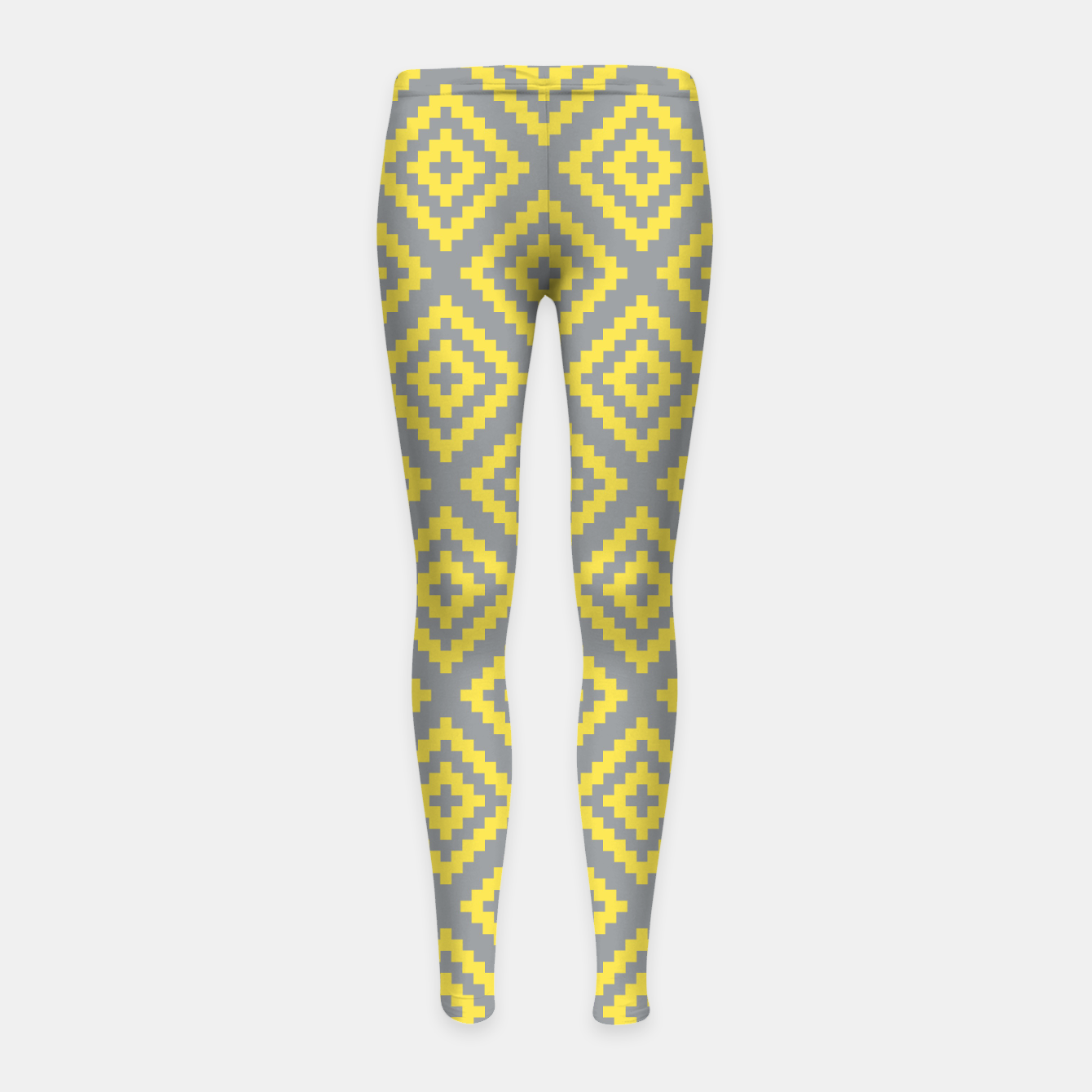 Zdjęcie Yellow and Gray Pattern I Girl's leggings - Live Heroes