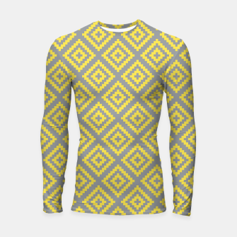 Miniatur Yellow and Gray Pattern I Longsleeve rashguard , Live Heroes