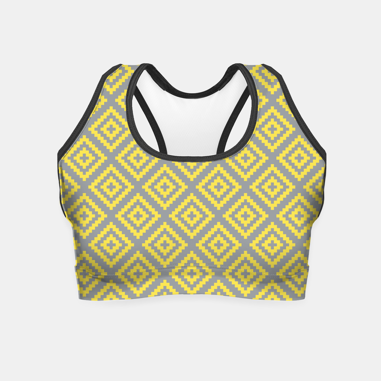 Zdjęcie Yellow and Gray Pattern I Crop Top - Live Heroes
