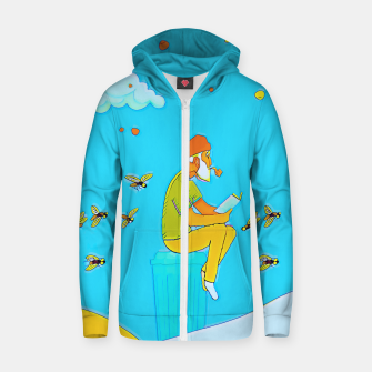 Thumbnail image of Book Zip up hoodie, Live Heroes