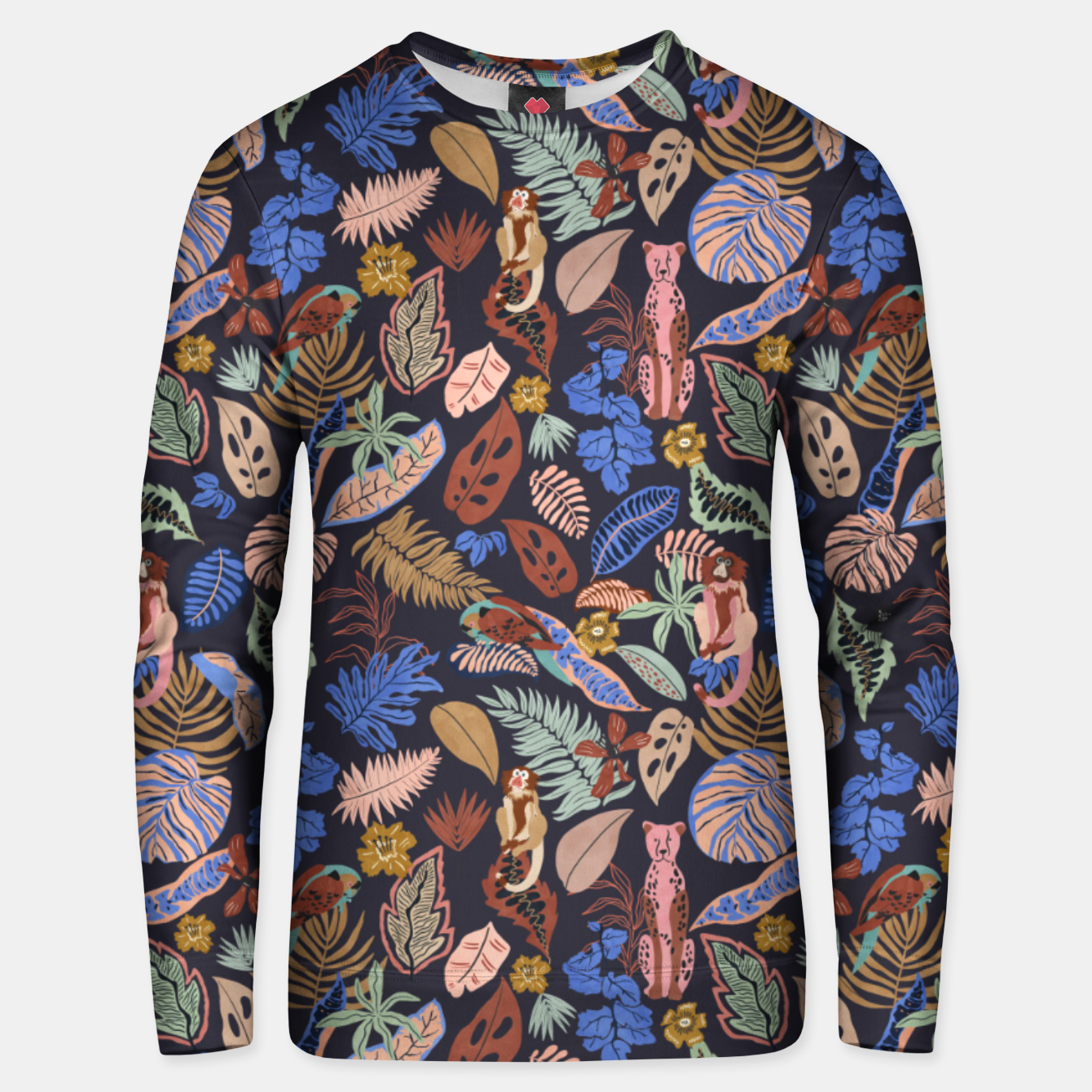 Image of Animals in the colorful jungle 63 Sudadera unisex - Live Heroes