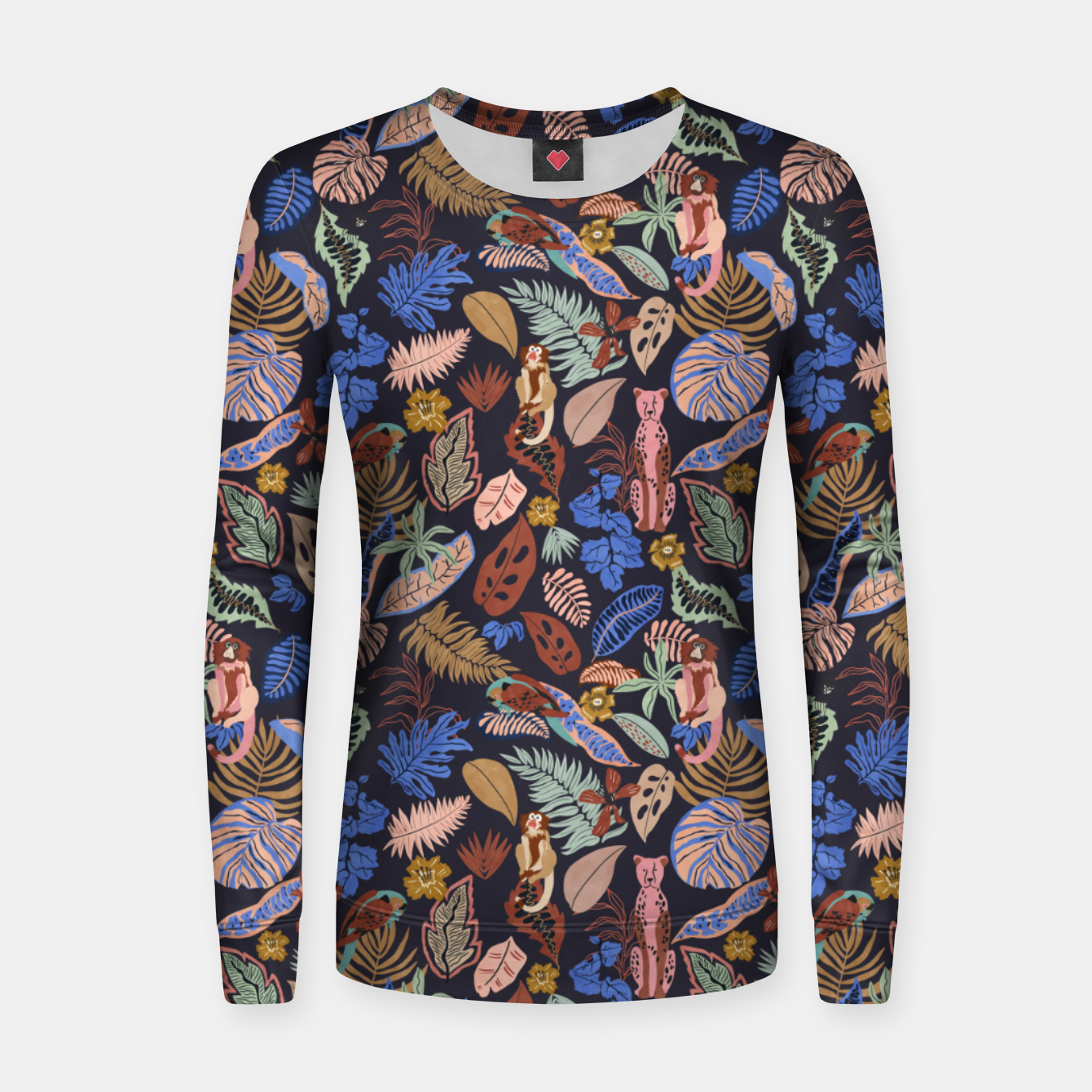 Image of Animals in the colorful jungle 63 Sudadera para mujeres - Live Heroes