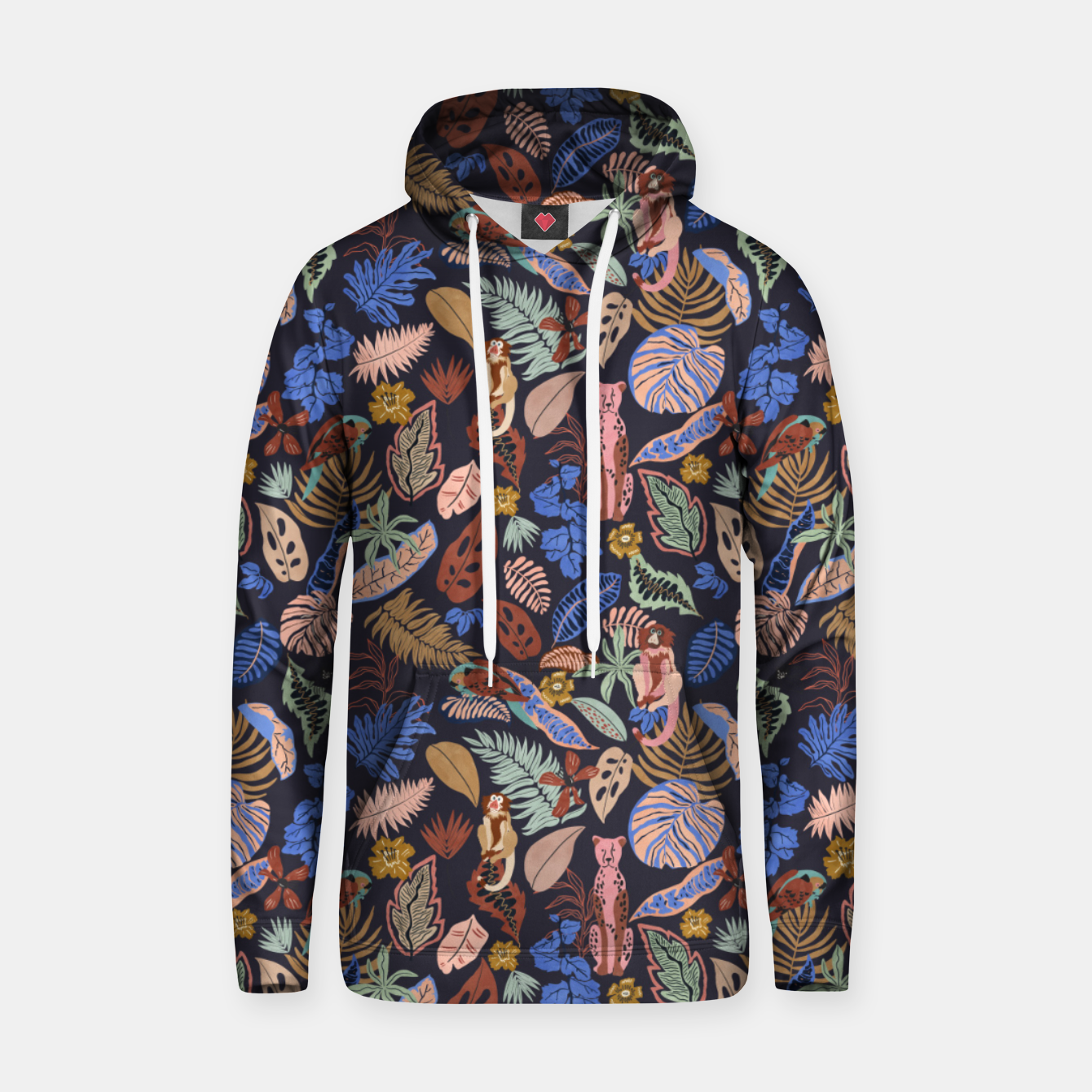 Image of Animals in the colorful jungle 63 Sudadera con capucha - Live Heroes