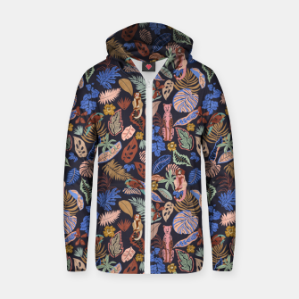 Miniatur Animals in the colorful jungle 63 Sudadera con capucha y cremallera , Live Heroes