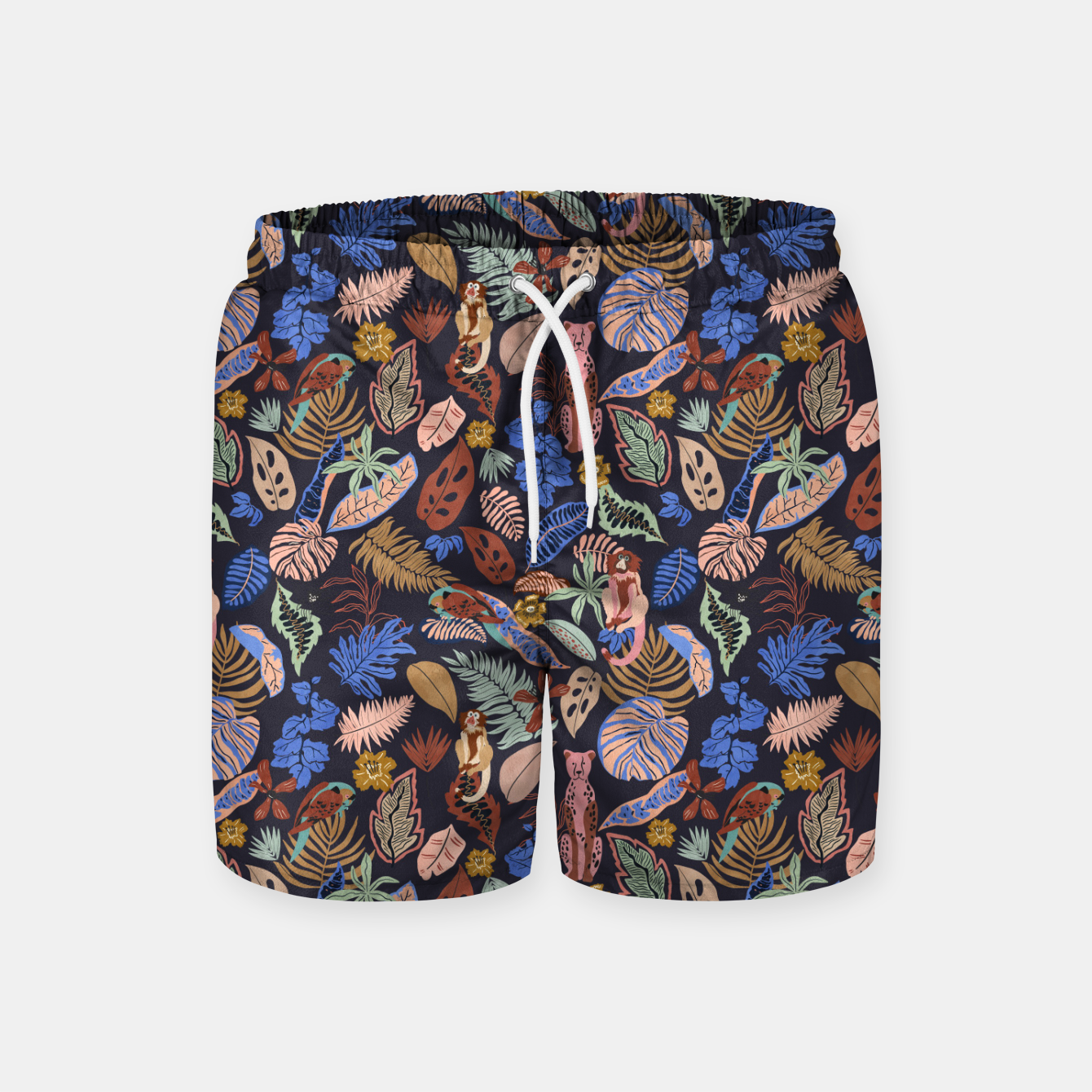 Image of Animals in the colorful jungle 63 Pantalones de baño - Live Heroes