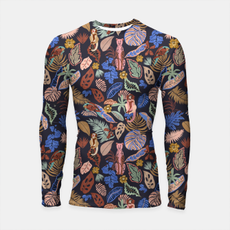 Miniatur Animals in the colorful jungle 63 Longsleeve rashguard, Live Heroes