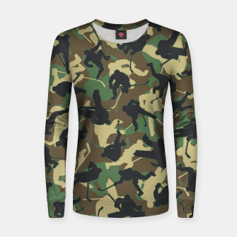 Miniature de image de Ice Hockey Player Camo Woodland Forest Camouflage Pattern Women sweater, Live Heroes
