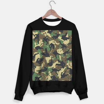 Thumbnail image of Ice Hockey Player Camo Woodland Forest Camouflage Pattern Sweater regular, Live Heroes